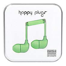 Buy Happy Plugs In-Ear Headphones with Mic/Remote Online at johnlewis.com