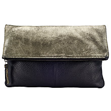 Buy Kin by John Lewis Mistry Leather Clutch Online at johnlewis.com