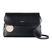 Buy Radley Millbank Small Leather Multiway Shoulder Bag, Black Online at johnlewis.com