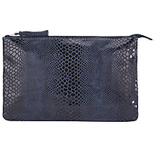 Buy Kin by John Lewis Shelly Lizard Clutch Bag, Navy Online at johnlewis.com