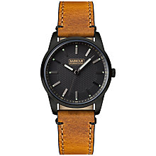 Buy Barbour International BB026BKTN Men's Jarrow Leather Strap Watch, Tan/Black Online at johnlewis.com