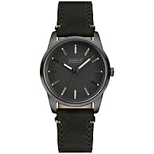 Buy Barbour International BB026GNBK Men's Jarrow Leather Strap Watch, Black Online at johnlewis.com