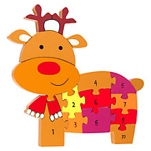 Buy Orange Tree Christmas Reindeer Number Puzzle Online at johnlewis.com