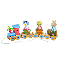 Buy Orange Tree Peter Rabbit Pull Along Puzzle Train Online at johnlewis.com