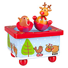 Buy Orange Tree Christmas Reindeer And Robin Music Box Online at johnlewis.com