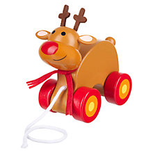 Buy Orange Tree Christmas Reindeer Pull Along Toy Online at johnlewis.com