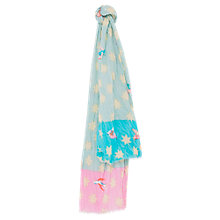 Buy Mango Kids Printed Cotton Scarf, Blue/Pink Online at johnlewis.com