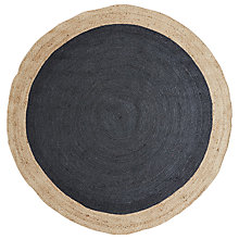 Buy west elm Border Round Jute Rug Online at johnlewis.com