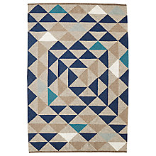 Buy west elm Framed Triangles Wool Kilim Rug Online at johnlewis.com