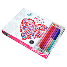 Buy Vive Le Color! Energy Colouring Book with Coloured Pencils Online at johnlewis.com