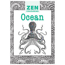 Buy Zen Colouring Ocean Adult Colouring Book Online at johnlewis.com