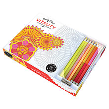 Buy Vive Le Color Vitality Colouring Book with Coloured Pencils Online at johnlewis.com