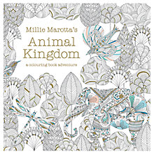 Buy Animal Kingdom Adult Colouring Book Online at johnlewis.com