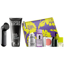 Buy Clinique For Men Sonic System and Clinique For Men Charcoal Face Wash, 200ml with FREE Clinique Bonus Time Gift Online at johnlewis.com