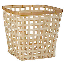 Buy John Lewis Coastal Bamboo Wastepaper Bin Online at johnlewis.com
