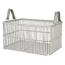 Buy John Lewis Croft Collection Bamboo Rectangular Basket Online at johnlewis.com