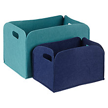Buy House by John Lewis Felt Storage Box, Set of 2 Online at johnlewis.com