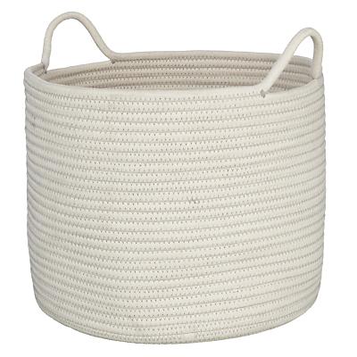 John Lewis Rope Storage Bucket, White