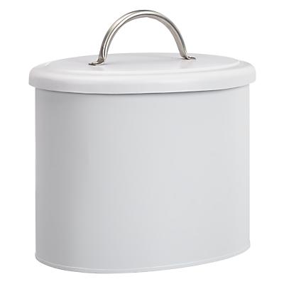 John Lewis Croft Collection Enamel Shoe Shine Box, White