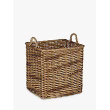 Buy John Lewis Croft Collection Wicker Log Basket Online at johnlewis.com