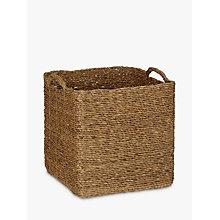Buy John Lewis Water Hyacinth Log Basket Online at johnlewis.com