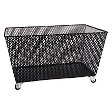Buy John Lewis Perforated Storage Basket Matte Black Online at johnlewis.com