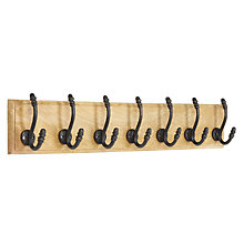 Buy John Lewis 7 Hook Rustic Hanging Rack Online at johnlewis.com
