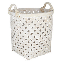 Buy John Lewis Whitewashed Storage Basket with Handles Online at johnlewis.com