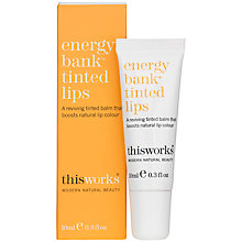 Buy This Works Energy Bank Tinted Lips, 10ml Online at johnlewis.com