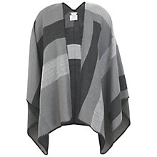 Buy Miss Selfridge Mono Grid Whipstitch Cape, Black Online at johnlewis.com