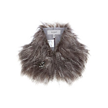 Buy Coast Bonnie Faux Fur Collar, Grey Online at johnlewis.com