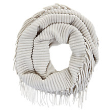 Buy Mint Velvet Pebble Fringe Snood, Grey Online at johnlewis.com