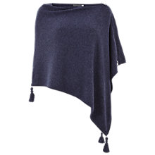 Buy Mint Velvet Tassel Detail Poncho, Indigo Online at johnlewis.com