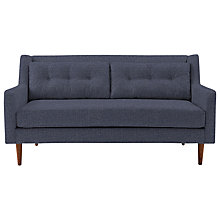 Buy west elm Crosby Medium Sofa, Aegean Blue Chocolate Online at johnlewis.com