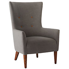 Buy west elm Victor Chair, Gravel Chocolate Online at johnlewis.com
