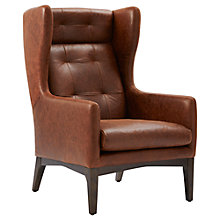 Buy west elm James Harrison Leather Winged Chair, Molasses Online at johnlewis.com