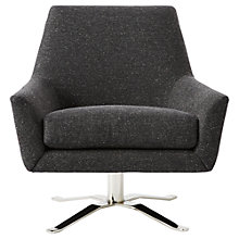 Buy west elm Lucas Swivel Base Chair, Asphalt Online at johnlewis.com