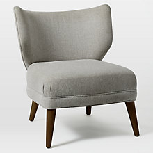 Buy west elm Retro Wing Chair, Retro Weave Grey Online at johnlewis.com
