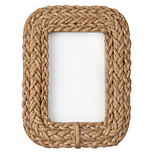 "Buy John Lewis Coastal Rope Photo Frame, 4 x 6"" Online at johnlewis.com"
