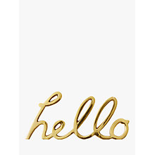 Buy west elm Brass Hello Object Online at johnlewis.com