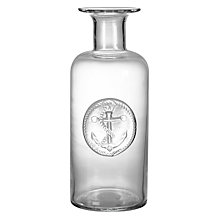 Buy John Lewis Coastal Anchor Glass Bottle Vase Online at johnlewis.com