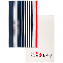 Buy John Lewis Coastal Tea Towels, Set of 2 Online at johnlewis.com