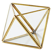 Buy west elm Gold Faceted Terrarium, Small Online at johnlewis.com