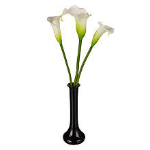 Buy Peony Lilies in Black Vase Online at johnlewis.com