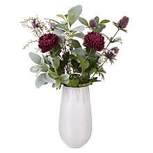 Buy Peony Chrysanthemums in Vase, Purple Online at johnlewis.com