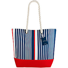 Buy John Lewis Coastal Beach Tote Bag, Blue / Red Online at johnlewis.com