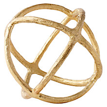 Buy west elm Gold Sculptural Sphere Gold, Small Online at johnlewis.com