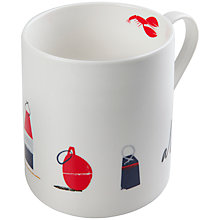 Buy John Lewis Coastal Buoys Mug Online at johnlewis.com