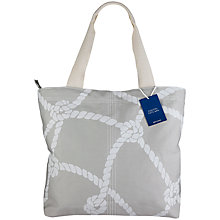 Buy John Lewis Coastal Cotton Tote Bag, Grey Online at johnlewis.com