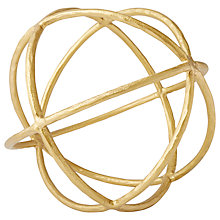 Buy west elm Gold Sculptural Sphere Gold, Extra Large Online at johnlewis.com